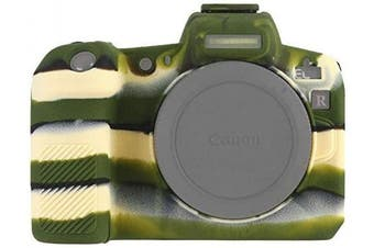 (Canon EOS R, Green) - STSEETOP Canon EOS R Camera Case, Professional Silicone Rubber Camera Case Cover Detachable Protective Case for Canon EOS R (Army Green)