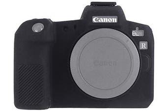 (Canon EOS R, Black) - STSEETOP Canon EOS R Camera Case, Professional Silicone Rubber Camera Case Cover Detachable Protective Case for Canon EOS R (Black)