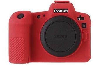 (Canon EOS R, Red) - STSEETOP Canon EOS R Camera Case, Professional Silicone Rubber Camera Case Cover Detachable Protective Case for Canon EOS R (Red)