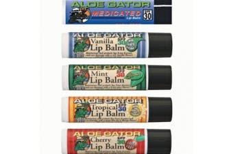 (pack of 1, Lemon Lime) - Aloe Gator SPF 30 Moisturising Lip Balm, Lemon Lime