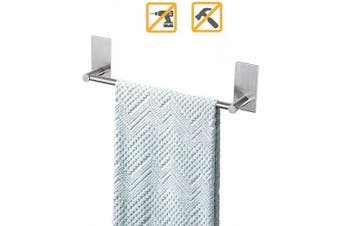 (30cm ) - Songtec Bathroom Towel Bar 30cm , Easy Instal with Self-Adhesive, NO Drilling on Walls, Premium SUS304 Stainless Steel - Brushed