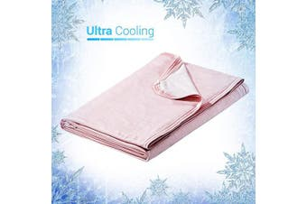 (200cm  x 220cm , Pink) - Elegear Revolutionary Cooling Blanket Absorbs Heat to Keep Adults, Children, Babies Cool on Warm Nights, Japanese Q-Max 0.4 Cooling Fibre, 100% Cotton Backing, Summer Blanket for Night Sweats
