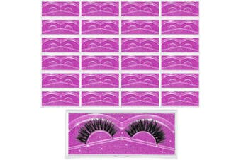 (Purple) - 24 Pieces False Eyelash Packaging Box Empty Lash Box Plastic Eyelash Storage Box Clear Empty Eyelash Case with Glitter Paper and Tray for Women Girls Fake Eyelash Care (Purple)