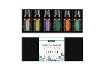 Magarri Essential Oils Set [100% Pure Natural Therapeutic Grade] Undiluted Oils Kit for Aromatherapy, Diffuser, SPA & Massage. (Lavender, Peppermint, Eucalyptus, Lemongrass, Sweet Orange, Tea Tree)