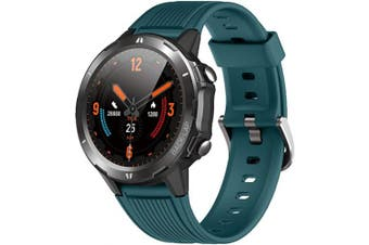 (blue) - Smart Watch, Fitness Tracker Watch for Men Women, Smartwatch with Heart Rate Monitor & Sleep Monitor, 5ATM Waterproof 3.3cm Touch Screen Watch, Call/Message Remind Step Counter Compatible with iPhone