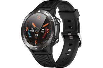 (black) - Smart Watch, Fitness Tracker Watch for Men Women, Smartwatch with Heart Rate Monitor & Sleep Monitor, 5ATM Waterproof 3.3cm Touch Screen Watch, Call/Message Remind Step Counter Compatible with iPhone