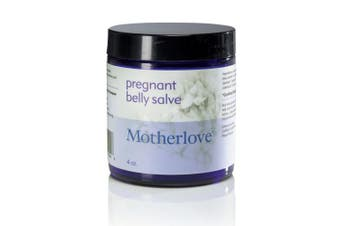 (120ml) - Motherlove Pregnant Belly Salve (120ml) Helps Prevent Stretch Marks, Soothes the Itch of Growing Skin - Moisturising Balm with Organic Herbs for Your Tummy, Cruelty-Free, Natural Cream for Pregnancy
