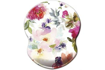 (Red White Flower) - Dooke Red White Flower Mouse Pad with Non-Slip Rubber Base for Working Studying