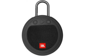 (Black) - Zaracle Flexible Protective Case Silicone Carrying Case Cover for JBL Clip 3 Waterproof Portable Bluetooth Speaker (Black)