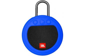 (Blue) - Zaracle Flexible Protective Case Silicone Carrying Case Cover for JBL Clip 3 Waterproof Portable Bluetooth Speaker (Blue)