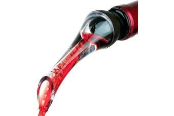 Wine Aerator Pourer - Premium Aerating Pourer and Decanter Spout (Black)