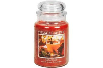 Village Candle Mulled Cider 770ml Glass Jar Scented Candle, Large