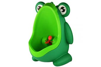 Standing Potty Training Urinal for Boys Toilet with Funny Aiming Target - Blackish Green