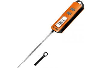 (Orange) - GDEALER Meat Thermometer Digital Instant Read Thermometer Cooking Candy Food Thermometer with Long Probe Backlight & Calibration Ultra Fast for Kitchen BBQ Grill Smoker Oil Fry Temperature Orange