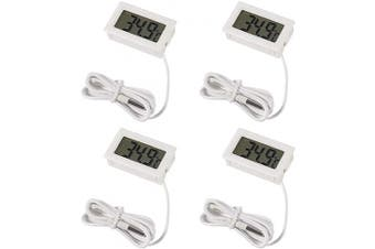 (Centigrade) - 4pcs Digital LCD Thermometer, MELIFE Centigrade Temperature Digital LCD Fridge Thermometer White 1M Cable with Probe for Fridge Freezer Refrigerator Aquarium