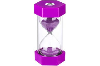 (45 min, Purple) - Hourglass Timer 45 Minute Sand Timer, Large Plastic Sand Clock 45 minutes, Purple Sand Watch 45 Min, Hour Glass Colourful Sandglass Timer for Kids, Games, Classroom, Kitchen, Decorative