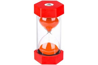 (15 min, Red) - Sand Timer 15 Minute Hourglass Timer: Plastic Sand Clock 15 Minutes, large Red Sand Watch 15 Min, Hour Glass Colourful Sandglass Timer for Kids, Games, Classroom, Kitchen, Decoration