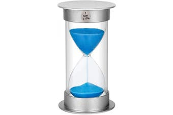 (1 min, Blue) - Sand Timer 1 Minute Hourglass Timer, Plastic Sand Watch 1 Minute, Small Sand Clock one Minute, Hour Glass Sandglass Timer for Kids, Games, Decoration, Classroom, Kitchen, (1 Min, Blue Sand)