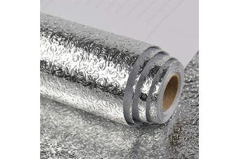 VEELIKE Kitchen Backsplash Wallpaper Peel and Stick Aluminium Foil Contact Paper Self Adhesive Oil-Proof Heat Resistant Wall Sticker for Countertop Drawer Liner Shelf Liner (15.74×300cm )