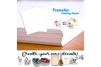 (5 Sheets) - 5 Sheets A4 Waterslide Decal Paper Clear Water Slide Transfer Paper Personalised DIY Custom Printable Water-Slide Decals for Inkjet Printers (5 Sheets)