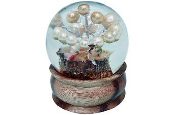 (Orgone Ball (Pearltree)) - Crocon Uniquely Filled Pearl Stone Tree in Orgone Sphere Ball with Wooden Ball Holder| Meditation| Reiki Haling| Home & Office Decor | Energy Generator | Size 50-60 mm