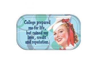 Retro Humour College Prepared Magnetic Mini Tin Sign