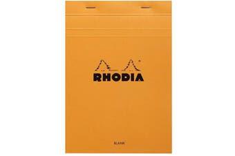 (15cm  x 21cm , Blank, Orange) - Rhodia Notepad, No16 A5, Plain - Orange