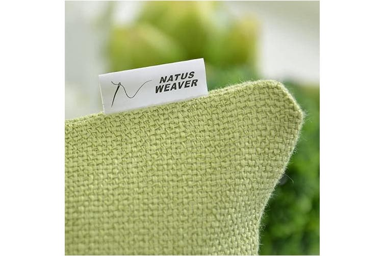 (30cm  x 50cm , Mustard Green) - NATUS WEAVER Throw Pillow Cover Cushion Case Pillowcase for Couch Sofa Home Decor, Solid Blended Soft Linen, 30cm x 50cm , Mustard Green