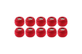 (Red) - DMC Pearl Cotton Ball Size 8 87yd