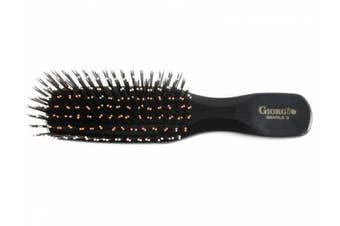 (Small, Black) - Giorgio Gentle 2 Hair Brush, Black, Small