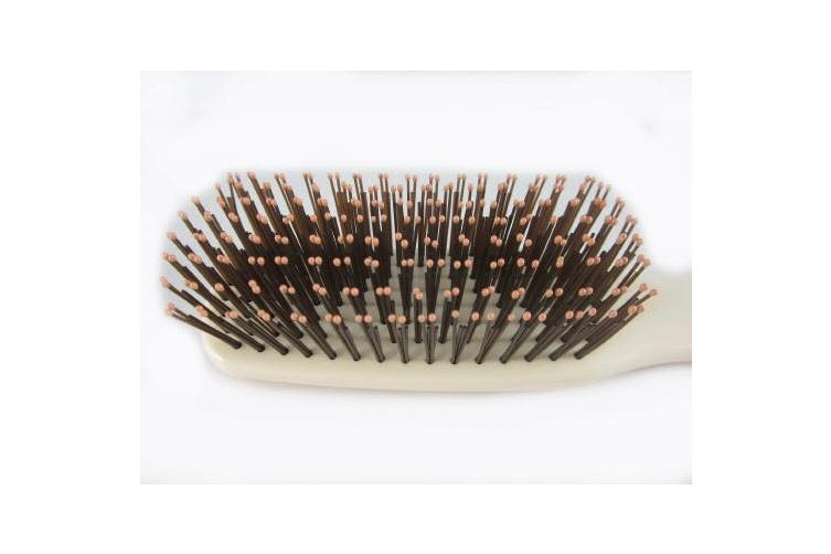 (Small, Ivory) - Giorgio GIO2IVY 16cm Gentle Hair Brush Purse Size. Wet & Dry Pro Hair Brush Detangler. Soft for Sensitive Scalp. Good For Men Women & Kids All hair lengths. Durable and Anti-Static. (6.25, Ivory)