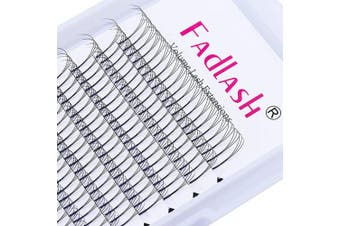(3D-0.07-C, 11 mm) - Eyelash Extension 3D 0.07 Volume Premade Fans Long-Stem 11mm Premade Fans Eyelash Extensions C Curl Lash Extension Supplies by fadlash (3D-0.07-C, 11mm)