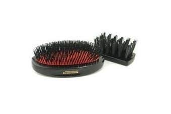 Boar Bristle - Sensitive Military Pure Bristle Medium Size Hair Brush (Dark Ruby) , 1pc
