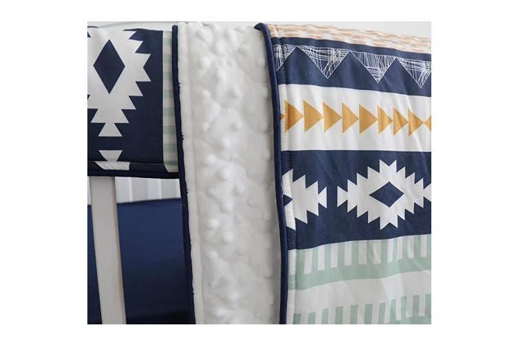 (Aztec) - Sahaler Minky Baby Blanket for Girl Boy, Baby Quilt Blanket for Crib, Crib Blanket for Baby - Aztec