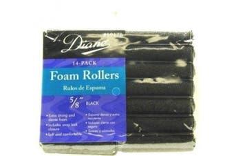 Diane Foam Rollers, Black, 1.6cm , 14/bag