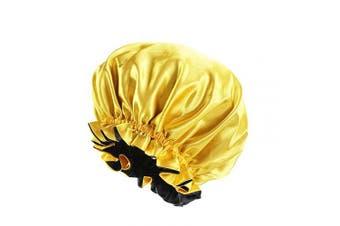 (yellow) - Silk Bonnets for Women, Satin Bonnet for Natural Hair Bonnet for Sleeping Cap Satin Hair Bonnets for Black Women Silk Bonnet for Curly Hair