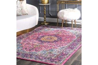 (0.6m x 1.8m, Pink) - nuLOOM Vintage Lindsay Persian Area Rug, 0.6m x 1.8m, Pink