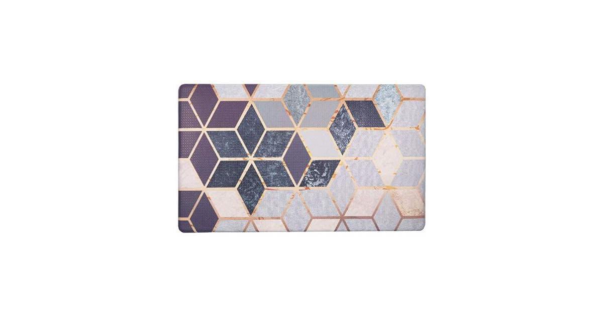 43cm X 80cm Cubes Shacos Kitchen Rugs Mats Comfort Mat Floor Mat Anti Fatigue Wipe Clean Non Slip Oil Stain Resistant 43cm X 80cm Cubes Matt Blatt