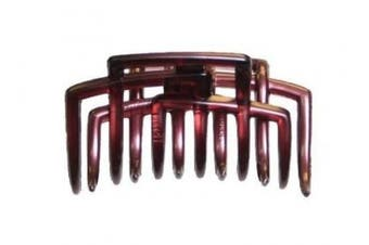 Caravan Rack Up Your Hair In This Glass'e Fashion Colours Hair Claw Pink -green Or Yellow
