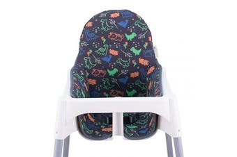 (HAPPY DINO) - JANABEBE Cushion Compatible with high Chair IKEA Antilop (Happy Dino)