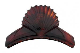 Caravan Hair Claw Deigned With Sea Shell On The Border As By The Beach Facing The Ocean But Holds A Load