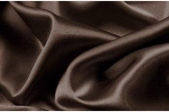 Fancy Collection Luxury Super Soft Sheet Set Solid Wrinkle Free Silky Satin New (Brown, Queen)
