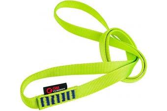 (Green, 60cm / 24inch | Single Unit) - GM CLIMBING 16mm Nylon Sling Runner 22kN / 2200kg