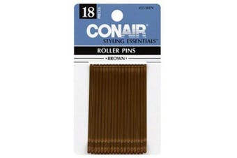 Conair Styling Essentials Roller Pins, Brown, 18 ct.