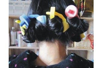3pcs New Design Magic Sponge Hair Roller Styling Maker Curler Roll DIY Tool For Girls