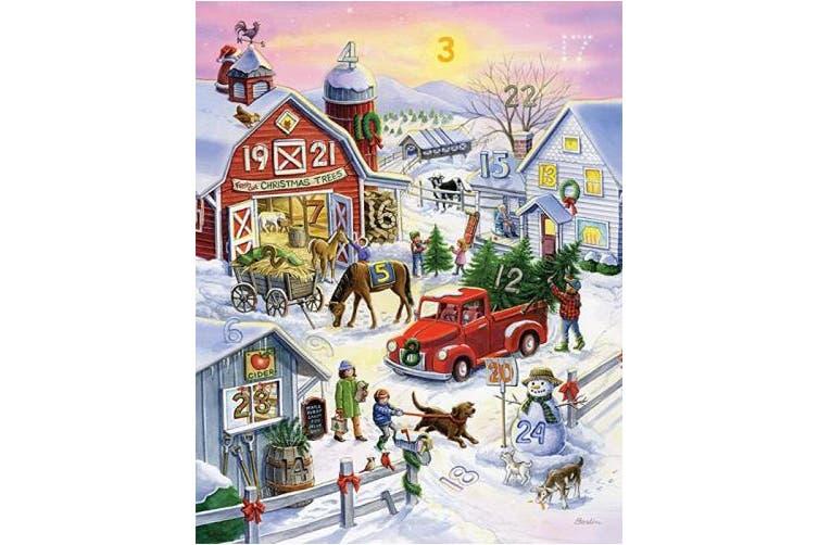 Barnyard Christmas Advent Calendar (Countdown to Christmas)