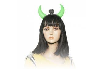 Amico Green Red LED Flashlight Devil Horns Headband for Halloween