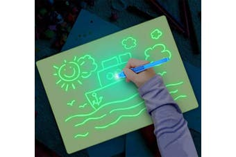 (A3) - Fun Drawing Pad Board Glow in Dark with Light for Kids Painting Board Educational Toy and Developing Drawing or Writing Skills (A3)