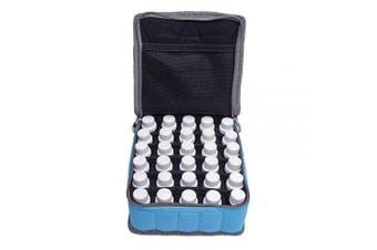 30 Bottles Premium Essential Oil Storage Case Holds 5ML 10ML 15ML Bottles (Blue)
