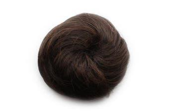 Fashion Donut Clip-on Dish Hair Bun Tray Ponytail Extension Hairpiece Wig Dark Brown